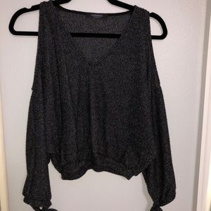 Open shoulder great sweater top. SOFT